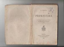 Giovanni VERGA - PRIMAVERA coda diavolo / castello Trezza / Nedda 1877 Brigola