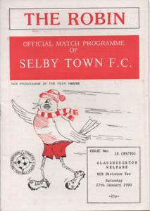 Selby Town v Glasshoughton Welfare 1990 1989/90