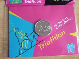 London 2012 Olympic Games RARE COINS WRONG YEAR. 50p Uncirculated Coins in Card