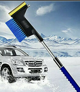 "Extendable Snow Removal Brush & Ice Scraper 34"""