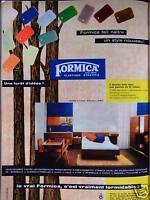 PUBLICITÉ DE PRESSE 1958 FORMICA LE VRAI C'EST VRAIMENT FORMIDABLE - ADVERTISING