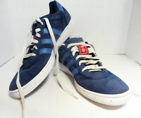 Adidas Men's Etrusco Skate Shoes - Blue/White with red accents Mens US Size 10