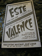 Partition Este Cha Cha Cha Dias Valence José Cana  Music Sheet 1961