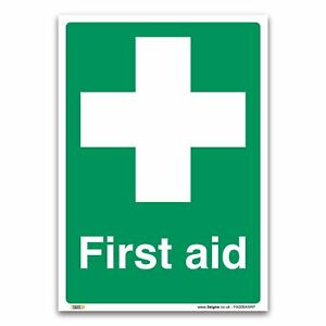 First Aid Sign - 1mm Rigid Plastic Sign - Emergency Equipment Safety
