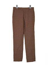 NEW Marni pattern gold brown cotton-blend zip fly trouser