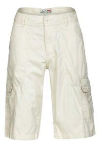 Mens Multi-Pocket Cotton Beige Summer Shorts - Sizes - 30/34