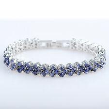 Xmas Gifts Fashion Rhinestone 18K White Gold Filled Tennis Bracelet