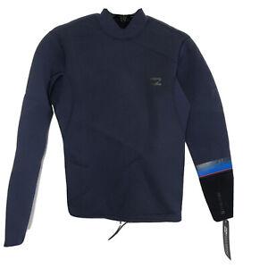 New Billabong 202 Revolution Youth Sz Medium Navy Blue Wetsuit Top Waist String