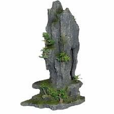 Rock Peak With Plant Fish Tank Aquarium Ornament Polyresin 14 Inches Tall