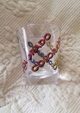 NEW shot glass from Colorado multi color rainbow travel souvenir WOW