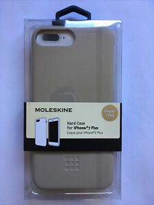 MOLESKINE PREMIUM HARD CASE FOR IPHONE 7+/8+ BEIGE SHOCKPROOF COVER BRAND NEW
