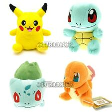 New Lot4 PIKACHU BULBASAUR CHARMANDER SQUIRTLE Pokemon Plush Toy Doll/PC3120