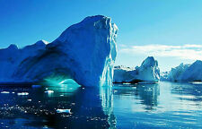 Framed Print - Antarctic Iceberg Ice Cave (Picture Poster Arctic Snow Art Water)