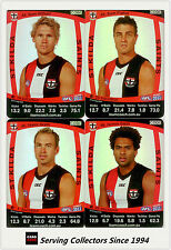 2011 AFL Teamcoach Trading Cards Silver Parallel Team Set St Kilda (11)