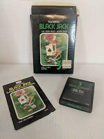 Black Jack Sears Tele-Games Atari 2600 Game Cartridge Instructions And Box