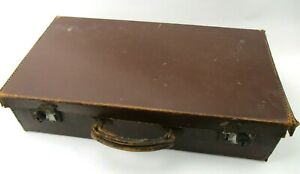 Small Vintage Rawhide Leather Suitcase Case