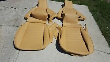 PORSCHE 911 951 964 968 85-94 SEAT KIT 100% LEATHER UPHOLSTERY CHAMPAGNE NEW