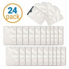 24 Pc RFID Blocking Safety Credit Card Sleeves - Identity Theft Protection