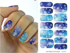 Blue Christmas Snowflake 2017 Nail Art Sticker Sheet Decal Decoration Manicure