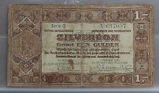 Nederland - Netherlands zilverbon 1 gulden 1938  NVMH 04-1a - 1 letter.