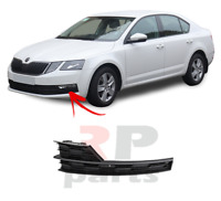 FOR SKODA OCTAVIA (5E) 17-19 FRONT BUMPER FOGLIGHT GRILLE BLACK LEFT N/S