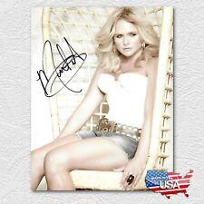 MIRANDA LAMBERT  Premium Quality Autographed Signed 8 x 10 Photo REPRINT