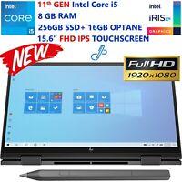 New HP ENVY x360-15t 11th Gen Intel Core i5- 8GB RAM- 256GB SSD+ 16GB OPTANE-FHD