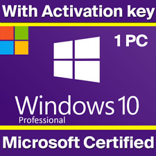 🔑WINDOWS 10 PRO PROFESSIONAL GENUINE 🔑 LICENSE KEY 🔑 INSTANT DELIVERY 🔑....-