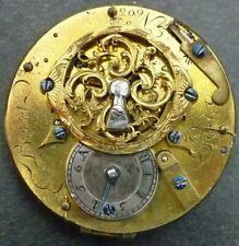 Mouvement de montre gousset coq signé Bécet Paris - A réviser ou restaurer
