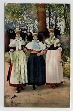 AK Bad Oeynhausen, Frauen in Tracht, 1909