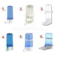 Bird Water Drinker & Feeder Bottles Anti Algae Finch Canary Budgie Bird Cage