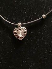 And Black Cord Necklace Nwt Brighton Sofi silver