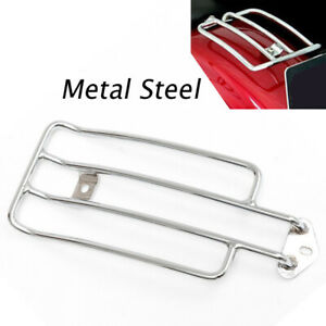 Universal Motorcycle Chrome Solo Seat Rear Fender Luggage Rack Support