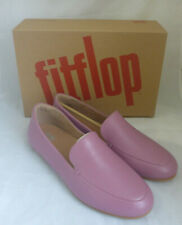 Fitflop Lena Loafers Heather Pink Leather Ladies Slip On Flat Shoes Box Size 8