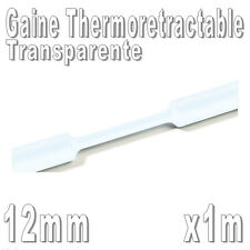 Gaine Thermo Rétractable 2:1 - Diam. 12 mm - Transparente - 1m