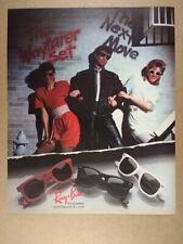 1986 Ray-Ban Wayfarer Sunglasses vintage print Ad