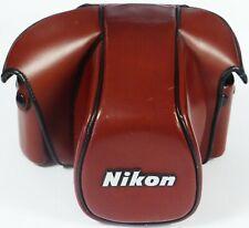Nikon Ever-Ready Case CF-22 ERC Tan Brown Leather for Nikon F3 F3HP F3/T etc