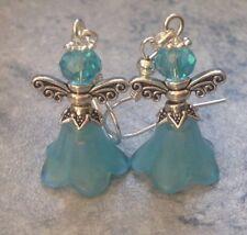 Christmas Turquoise Guardian Angel Fairy Earrings Unwanted Gift