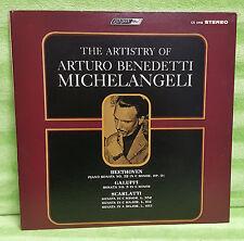 THE ARTISTRY OF Arturo Benedetti Michelangeli Beethoven Vinyl Record LP CS 6446