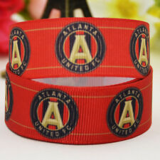 50yards 22mm Atlanta united sport team ball printed Grosgrain Ribbon party
