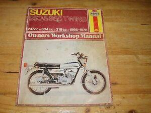 Haynes Manual for Suzuki 250 & 350 Twins 1966-1978