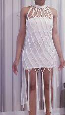 Brand new IVY PARK macrame crochet tassle fringe dress - X SMALL ~ FESTIVAL