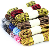 Double Color Casual Striped Round Shoelaces Sport Shoes Shoe Lace  For Boots New
