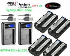 4XNP-F550+2XAC For Sony HVR-Z1E CCD-TRV65  DCR-VX2000E HDV-FX1 HDV-Z1 DSR-PD150P