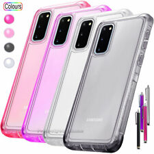 For Galaxy Note20 10 S10e S10 S20 Plus Clear Case Transparent Silicone TPU Cover