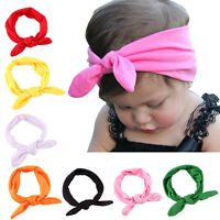 Toddle Baby Kids Girl Bow Headband Rabbit Ears Hair Band Turban Knot Head LJG