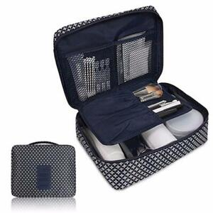 Expandable Makeup Bag Cosmetic Waterproof Travel Toiletry Zipped Organizer Pouch
