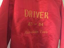 Mens Vtg 80's Hawaiian Tour Satin Bomber Driver Jacket SZ 38 Small By Tempco USA
