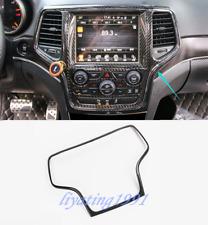 Carbon Fiber Car GPS Navigation Frame Trim For Jeep Grand Cherokee 2014-2018