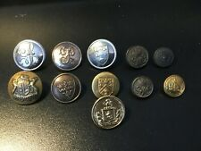Vintage Non Military Brass Buttons   x 11.   (F33)